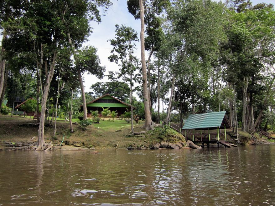 Suriname works to balance respect for the tribes living in the rainforest (villages, hunting areas, cultural places) with resource development and ecotourism. This lodge for tourists is well integrated into its environment. (Photo: Courtesy Wilderness Explorers)
