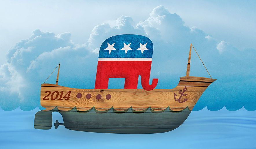 Republicans Right the Ship Illustration by Greg Groesch/The Washington Times