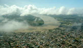 Rising sea levels from melting glaciers, ice caps, and the oceans' thermal expansion could eventually flood the low-lying capital of Paramaribo. (Photo: Courtesy Government of Suriname)