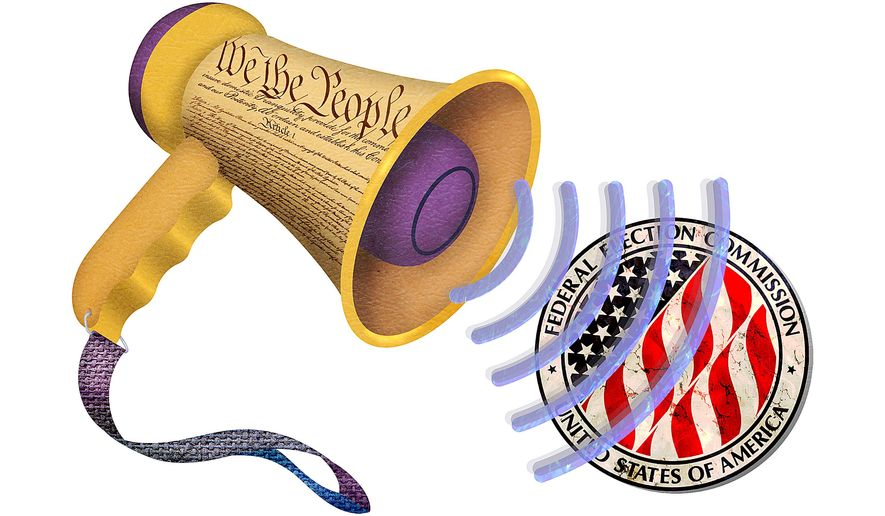 Megaphone FEC Illustration by Greg Groesch/The Washington Times