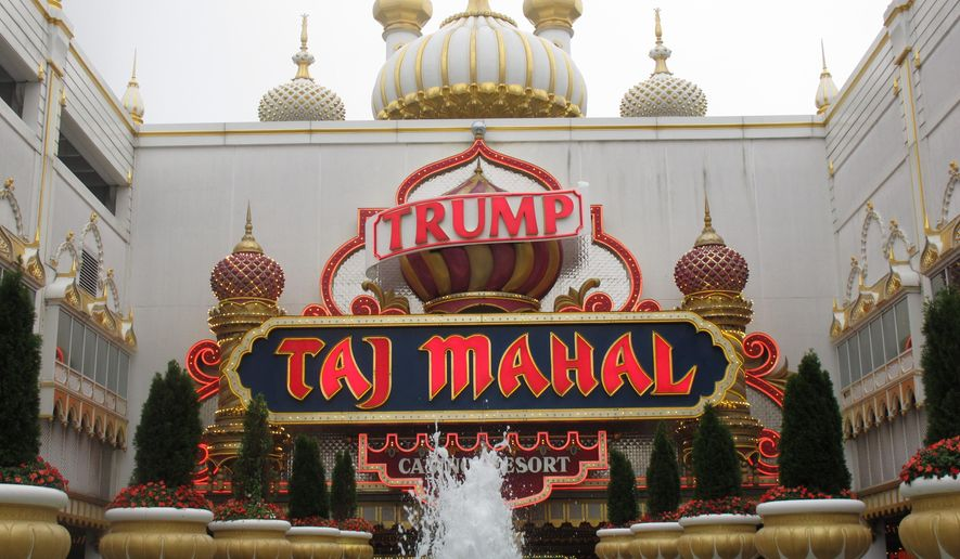FILE - This Sept. 22, 2011 file photo shows the Trump Taj Mahal Casino Resort in Atlantic City NJ. Its owners and main casino workers union are clashing over the company's demand for substantial union givebacks and government aid in return for keeping the casino open past November 2014.(AP Photo/Wayne Parry, File)