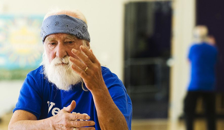 This Sept. 26, 2014 photo shows Brice Wilkinson in Winona, Minn.   Wilkinson has been retired from teaching at  Winona State University since 1998, but stays busy with Tai chi. He teaches classes at WSU on Mondays, Wednesdays and Fridays at noon in the Integrated Wellness Center and is the adviser of the university's tai chi club(AP Photo/Winona Daily News, Andrew Link)