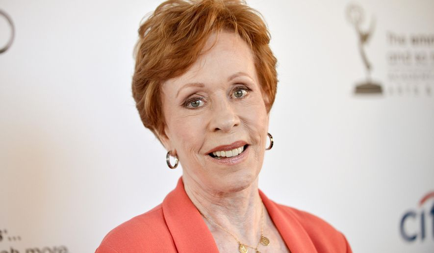 "FILE - In this July 22, 2013 file photo, actress and comedian Carol Burnett arrives at the Academy of Television Arts and Sciences' An Evening with Carol Burnett at the Leonard H. Goldenson Theatre in Los Angeles. Burnett returns to Broadway in the show ""Love Letters,"" opposite Brian Dennehy. It will be the third time in a quarter of a century that they've played the would-be lovers together onstage. (Photo by Richard Shotwell/Invision/AP, File)"