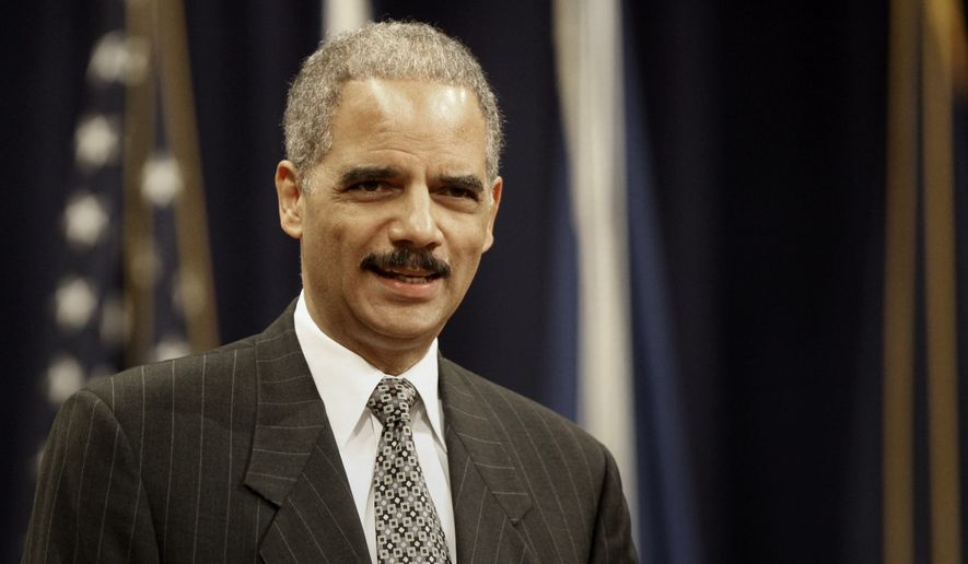 """Attorney General Eric Holder (above, in 2009) exemplified President Obama's racial vision in calling the U.S. a """"nation of cowards"""" for evading racial guilt, says Colin Flaherty. (AP Photo/Lawrence Jackson)"""
