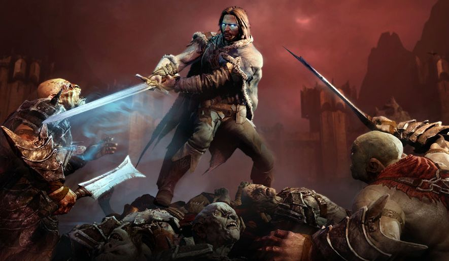 The Gondorian Ranger Talion, bound to the spirit of an Elvish Wraith named Celebrimbor, fights off Sauron's Uruk Hai in the action packed video game Middle-earth: Shadow of Mordor.