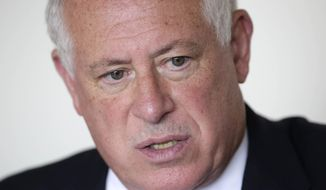 FILE - In this Sept. 19, 2014, file photo, Illinois Gov. Pat Quinn speaks during an interview in Chicago. Quinn's carefully tended image as a reformer, back to his activist days advocating for consumers and campaigning to shrink the size of government, has been put to the test in his no-holds-barred bid for re-election this year. Quinn is running against Republican Bruce Rauner in the November general election. (AP Photo/M. Spencer Green, File)