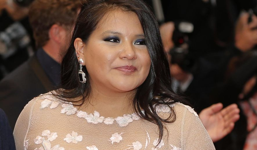 """In this May 17, 2013 file photo, actress Misty Upham arrives for the screening of the film Jimmy P.: Psychotherapy of a Plains Indian, at the 66th international film festival, in Cannes, southern France. Police in Washington state say Upham, known for her roles in """"August: Osage County,"""" """"Frozen River"""" and """"Django Unchained,"""" has been missing since Sunday, Oct. 5, 2014. (Photo by Todd Williamson/Invision/AP, File)"""