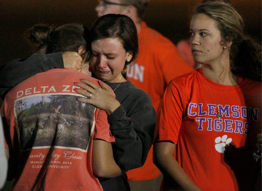aftermath: Clemson students remember Tucker Hipps, who was found in a lake after going missing during a run with his fraternity. A slew of rush-related hazing deaths has college campuses considering removing Greek organizations. (Associated Press/the independent-mail)