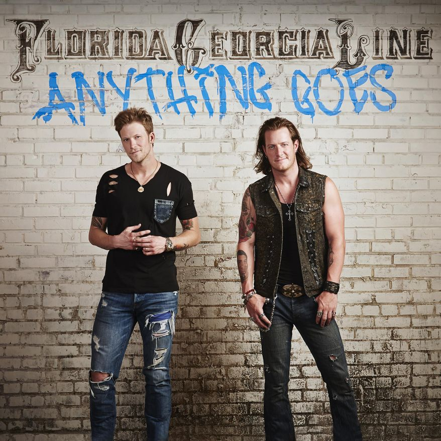 """This CD cover image released by Big Machine Records shows """"Anything Goes,"""" by Florida Georgia Line. (AP Photo/Big Machine Records)"""