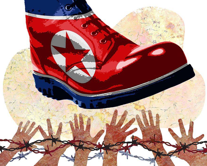 North Korea Human Rights Violations Illustration by Greg Groesch/The Washington Times