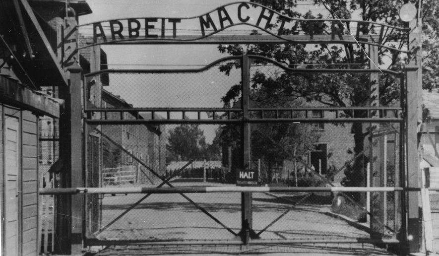 Holocaust denial video that suggested Jews were not exterminated by gas chambers at the Nazi Auschwitz concentration camp mysteriously received flattering praise in letters from the offices of one U.S. representative, a Maine state representative and a high-ranking policy adviser to the president of Hungary who now works for NATO. (AP Photo)