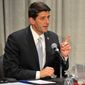 Paul Ryan debates with Rob Zerban at Carthage College in Kenosha, Wis., on Monday, Oct. 13, 2014. (AP Photo/The Kenosha News, Sean Krajacic)