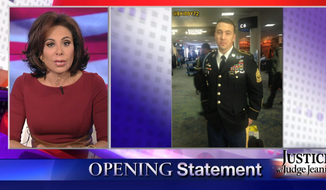 Fox News' Judge Jeanine Pirro suggested over the weekend that the US Airways flight attendant who refused to hang up an Army Ranger's uniform jacket should be exposed to the Ebola virus. (Fox News Insider)