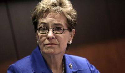 """Steve Fought, a spokesman for Rep. Marcy Kaptur, Ohio Democrat, said the congresswoman did not watch """"David Cole in Auschwitz — A Jew Questions the Holocaust,"""" or write the letter praising the video. (Associated Press)"""