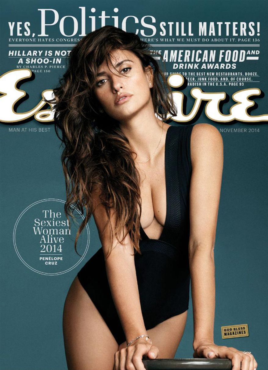 Penelope Cruz named Esquire Magazine's Sexiest Woman Alive for 2014.