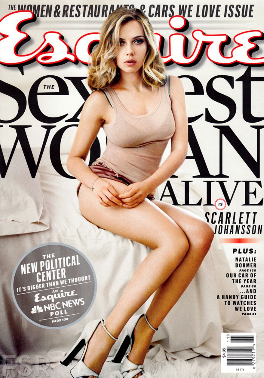 Scarlett Johansson is the first woman to win the sexiest title twice (2013).