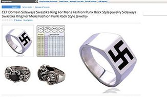Sears has apologized and removed a men's swastika ring that was briefly for sale on its Marketplace website. (Kveller/Rachel Silberstein)