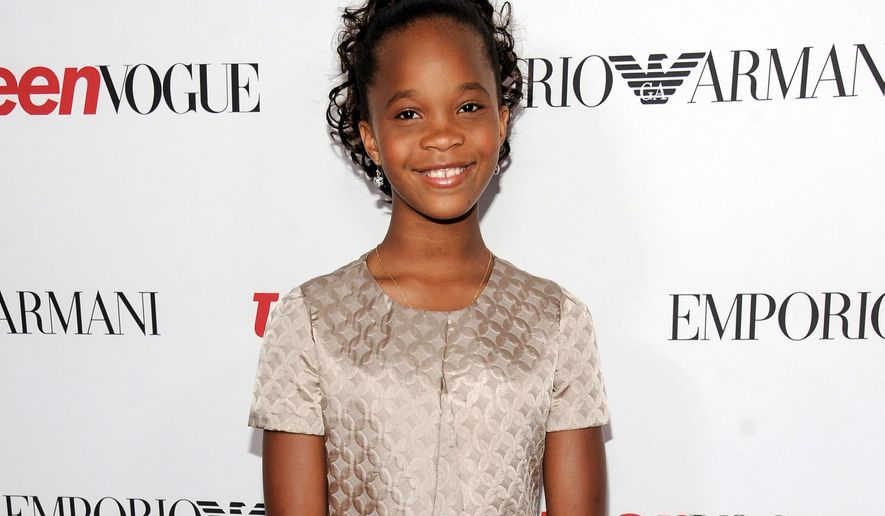 "FILE - In this Sept. 26, 2014 file photo, actress Quvenzhane Wallis arrives at Teen Vogue's Young Hollywood Party in Beverly Hills, Calif. Wallis stars in the film version of ""Annie,"" with Jamie Foxx, Cameron Diaz and Rose Byrne. (Photo by Richard Shotwell/Invision/AP, File)"