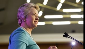 Houston Mayor Annise Parker backed down Wednesday from the city's effort to force local pastors to turn over speeches and papers related to a hotly contested transgender rights ordinance. (Associated Press)