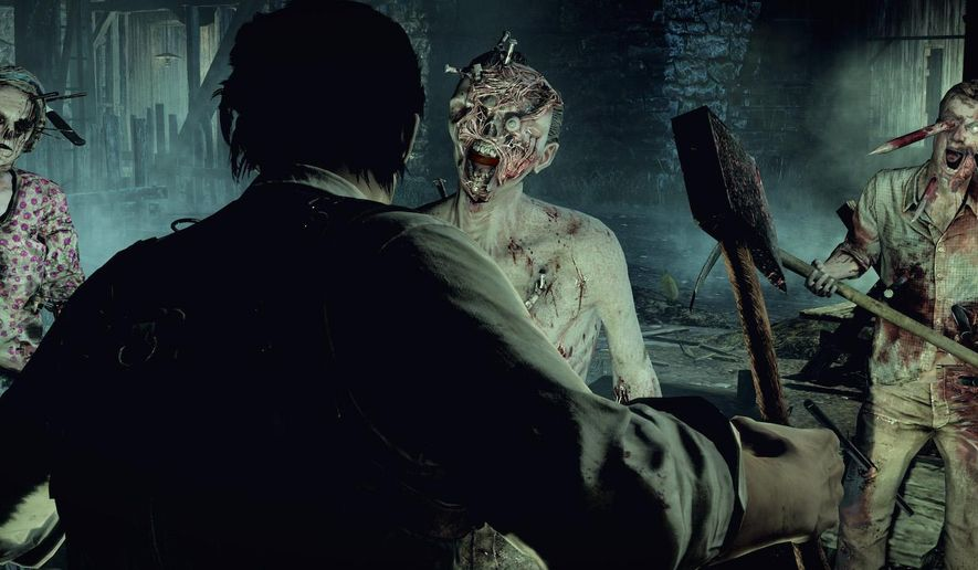 """This image released by Bethesda Softworks shows a scene from the video game, """"The Evil Within."""" (AP Photo/Bethesda Softworks)"""
