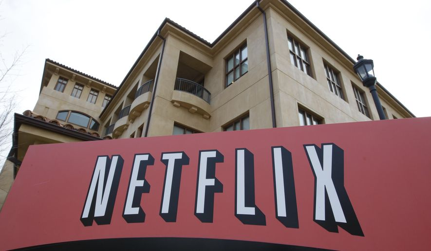 FILE - This March 20, 2012 file photo shows Netfilx headquarters in Los Gatos, Calif. Netflix Inc. shares sank Thursday, Oct. 16, 2014 on slower subscriber growth and fears of increased competition ahead. (AP Photo/Paul Sakuma, File)