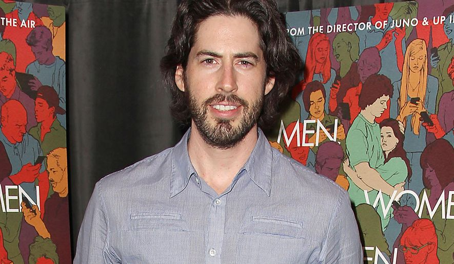 "In this Oct. 14, 2014 photo released by Starpix, director Jason Reitman poses at the after party for a special screening of ""Men, Woman and Children,"" at the Hudson Hotel in New York. The film, starring Adam Sandler, Judy Greer, Jennifer Garner, Dean Norris and Ansel Elgort, releases on October 17. (AP Photo/Starpix, Kristina Bumphrey) -PICTURED: Jason Reitman -PHOTO by: Kristina Bumphrey/Starpix -File name: KBU_14_528004015.JPG -Location: The Library Bar at the Hudson Hotel For licensing please call 212-414-9464 or email sales@startraksphoto.com"
