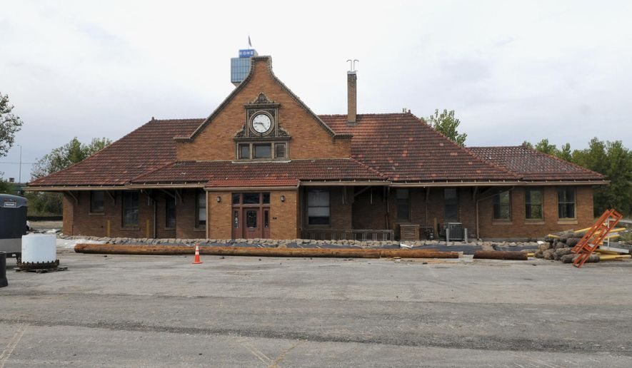This Sept. 24, 2014 photo shows the historic 114-year-old train depot in Moline, Ill. Preservation advocates have been given just over six months to save the train depot from demolition. The city administrator said Wednesday, Oct. 15, 2014, that the Illinois Department of Transportation has set a May 1 deadline for those who hope to preserve the depot by finding it a new home.  (AP Photo/The Dispatch, Gary Krambeck)  QUAD CITY TIMES OUT
