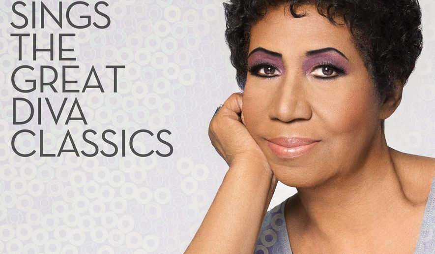 "This image provided by RCA Records shows the cover for Aretha Franklin's latest album, ""Aretha Franklin Sings the Great Diva Classics."" (AP Photo/RCA Records)"