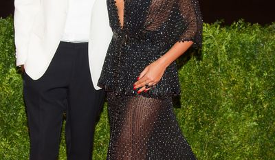 """Beyonce and Jay Z attend The Metropolitan Museum of Art's Costume Institute benefit gala celebrating """"Charles James: Beyond Fashion"""" on Monday, May 5, 2014, in New York."""