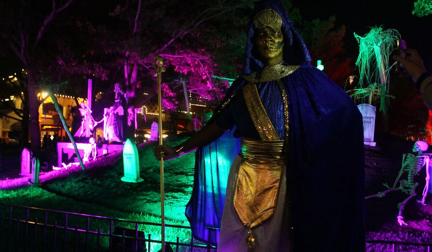 The Egyptian gatekeeper at King's Dominion's 2014 'Halloween Haunt' in Doswell, Virginia. (Photograph by Jacquie Kubin / Special to The Washington Times)