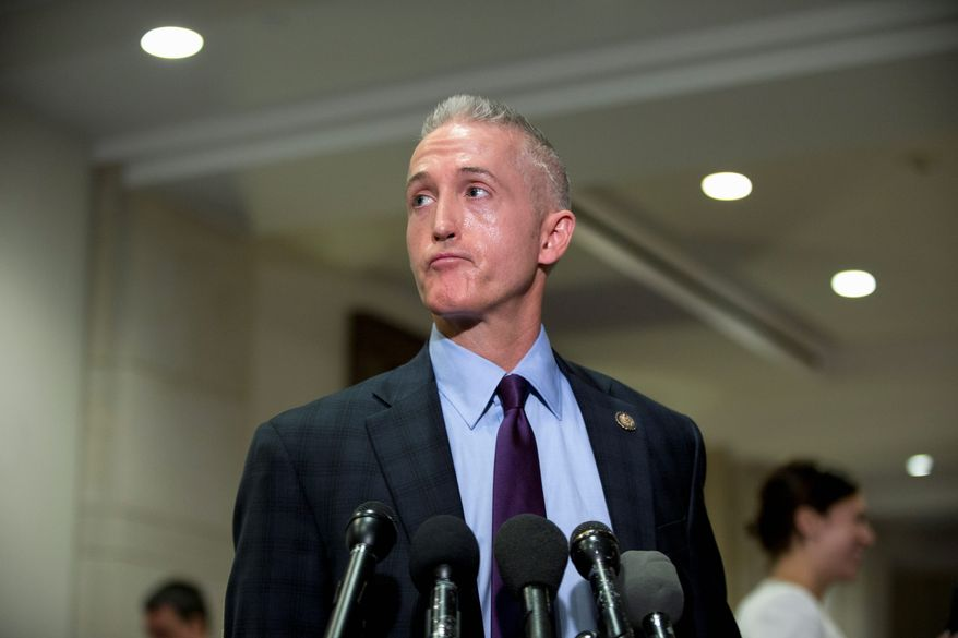 Rep. Trey Gowdy, South Carolina Republican, is among a growing number of GOP figures calling for President Obama to take a tougher approach to the Ebola crisis, including travel restrictions for West African countries ravaged by the disease. (Associated Press)