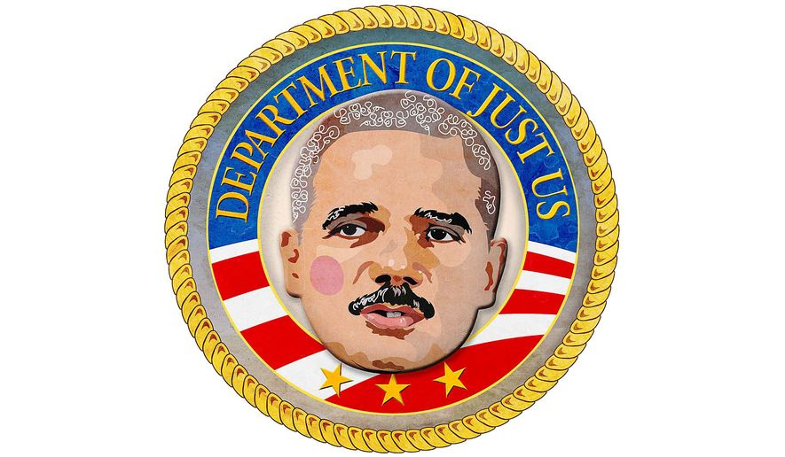 Seal of the Just Us Department Illustration by Greg Groesch/The Washington Times
