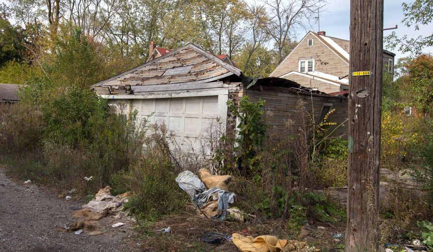 In this Oct. 19, 2014 photo is the back of a house in Gary, Ind., where the body of a woman was found on Sunday. Police said Sunday that a 43-year-old man confessed to killing a woman whose body was found in a Motel 6 in the neighboring city of Hammond, Ind., and told investigators where the bodies of three other women could be found in abandoned homes in Gary. Police said Monday that the bodies of seven women have now been found in northwestern Indiana.  (AP Photo/Sun-Times Media, Jim Karczewsk) MANDATORY CREDIT