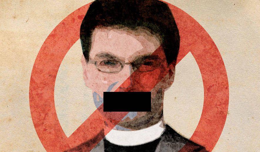 Houston Preachers Censored Illustration by Greg Groesch/The Washington Times