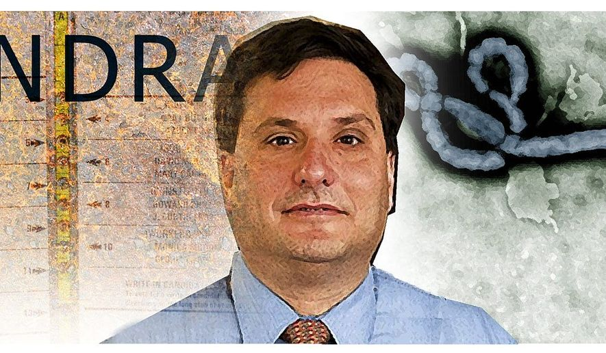 Illustration on Ron Klain by Alexander Hunter/The Washington Times