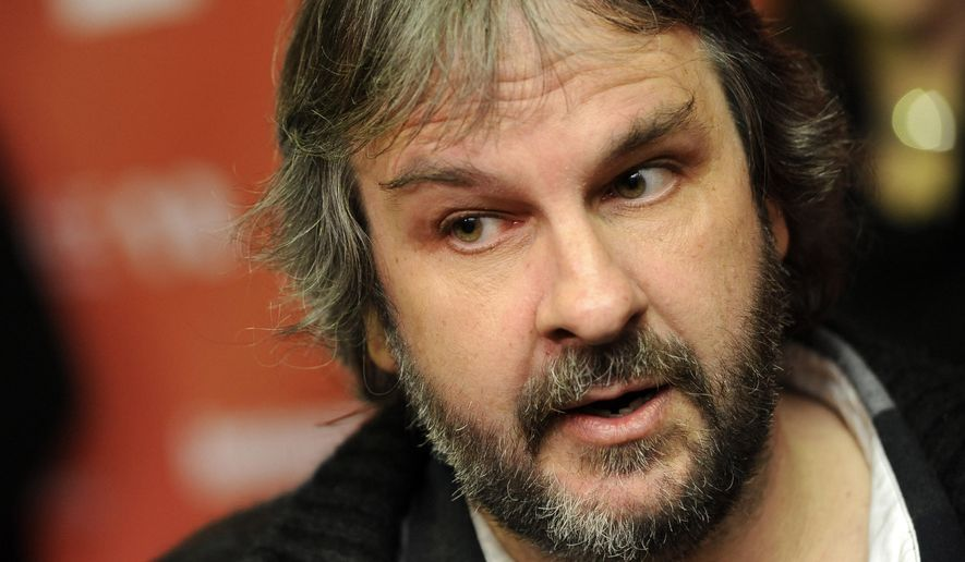 "FILE - In this Jan. 20, 2012 file photo, Peter Jackson is interviewed at the 2012 Sundance Film Festival in Park City, Utah.  Jackson's movie trilogy ""The Hobbit"" has so far cost nearly three-quarters of a billion dollars to make as the epic continues to set new benchmarks for studio spending.  Financial documents filed this month in New Zealand, where the films are being made, show production costs through March had reached 934 million New Zealand dollars ($745 million)(AP Photo/Chris Pizzello, File)"