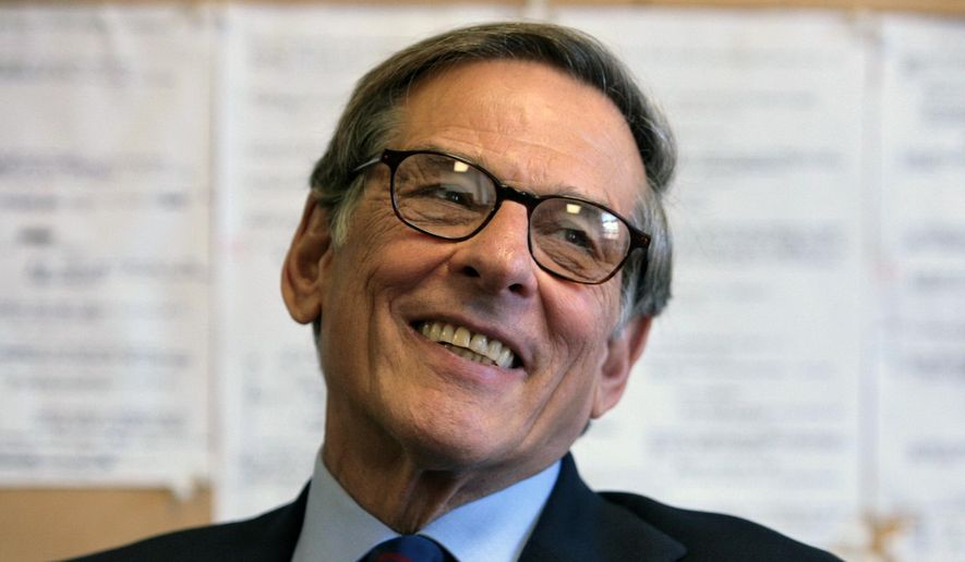 "FILE - In this Aug. 20, 2008 file photo, author and biographer Robert Allan Caro smiles during an interview in New York. A generation of city planners and builders have come of age since Caro's 1,300-page, Pulitzer Prize-winning biography ""The Power Broker,"" was published 40 years ago. Celebrated for its exhaustive detail, controversial for its startling disclosures, Caro's book has been cited as inspiration for a new approach to urban planning _ more modest in scale, more focused on community involvement. (AP Photo/Bebeto Matthews, File)"
