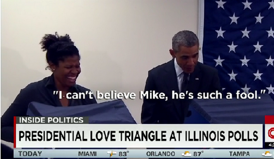A Chicago man has become a social media sensation after he teased President Obama at the voting booth Monday to keep his hands of his girlfriend. (CNN)