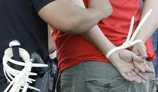WEB STOCK Police officer makes an arrest. (AP Photo)