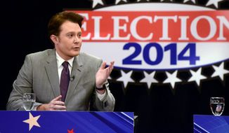 "runner-up: Despite his name recognition as a former ""American Idol"" contestant, Clay Aiken still polls well behind Republican Renee L. Elmers. (ASSOCIATED PRESS)"