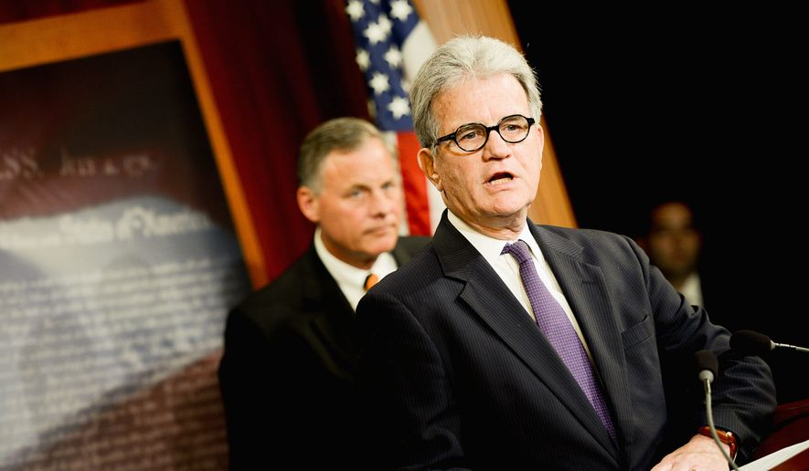 "Waste watcher: ""The only way to stop wasteful Washington spending is by shining a light on it whenever and wherever it occurs, even if it is in your own state,"" says Sen. Tom Coburn, who is releasing his last Wastebook before retiring. (Andrew Harik/The Washington Times)"