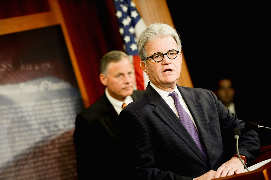 """Waste watcher: """"The only way to stop wasteful Washington spending is by shining a light on it whenever and wherever it occurs, even if it is in your own state,"""" says Sen. Tom Coburn, who is releasing his last Wastebook before retiring. (Andrew Harik/The Washington Times)"""
