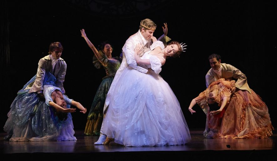 "This image released by Allied Live shows Paige Faure as Cinderella in ""Rodgers + Hammerstein's Cinderella,""on tour. The tour is now in Florida and plans stops in North Carolina, Pennsylvania, New York, Illinois, Ohio, Missouri, Colorado, Oregon, Washington, California, Arizona, Nevada, Texas, Iowa and South Carolina. (AP Photo/Allied Live, Carol Rosegg)"