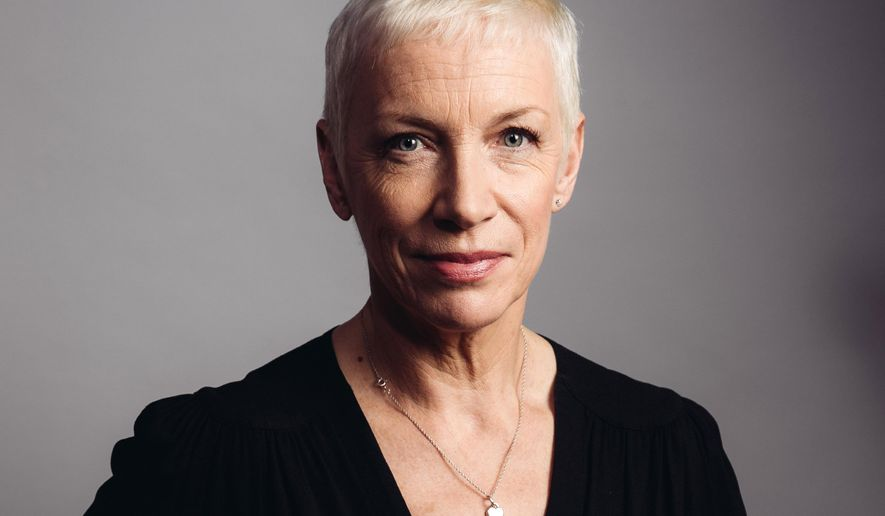 "In this Oct. 9, 2014 photo, musician Annie Lennox poses for a portrait during an interview in Los Angeles to promote her new CD ""Nostalgia."" (Photo by Casey Curry/Invision/AP)"
