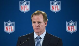 A person familiar with the case has told The Associated Press that an arbiter has ruled that NFL Commissioner Goodell should testify in Ray Rice's appeal of his indefinite suspension. The person spoke on condition of anonymity because details of the appeal have not been made public. (AP Photo/John Minchillo)