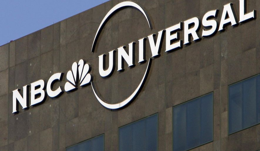 """This Thursday, Dec. 3, 2009, file photo, the NBC Universal logo hangs on a building in Los Angeles. On Jan. 15, 2018, the Parents Television Council called out the NBC network for an uncensored use of the F-word on the Jan. 13, 2018 broadcast of """"Saturday Night Live."""" (AP Photo/Jae C. Hong, File) **FILE**"""