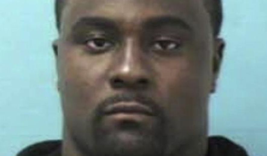 This booking photo released by the Franklin, Tenn., Police Department shows Shonn Greene of the Tennessee Titans NFL football team. Greene was arrested Friday, Oct. 24, 2014, for allegedly parking in a handicapped space and speeding away when an officer was issuing him a citation. Franklin, Tennessee police Sgt. Charles Warner says Greene was charged with driving on a suspended license, reckless driving, failure to stop/halt/frisk and illegal parking.  Greene was released on $2,000 bond. He is due in court Nov. 13. (AP Photo/Franklin, Tenn., Police Department)