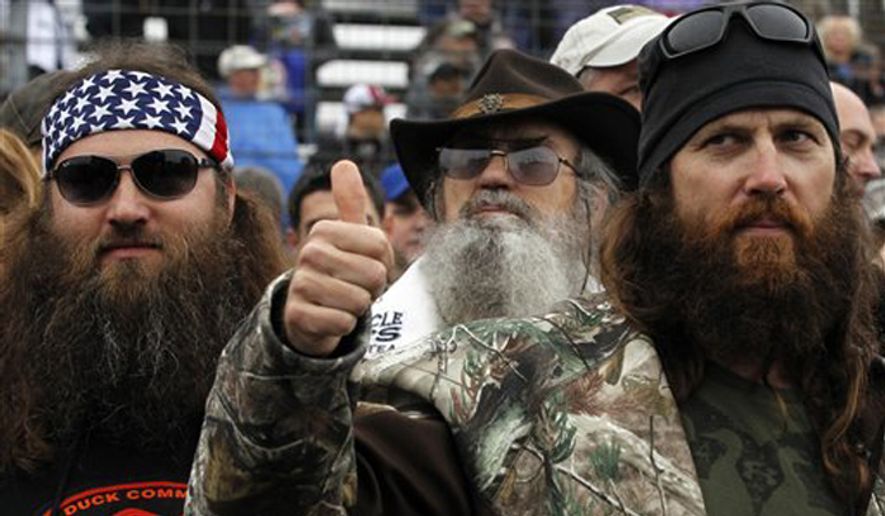 Duck Dynasty star Jep Robertson (right) was rushed to the hospital after suffering a seizure during a deer hunting trip recently. (Associated Press) ** FILE **