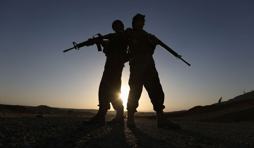 LAST LINE OF DEFENSE: Afghan National Army forces are not ready to rebuff an expected Taliban offensive, on its own, once all American troops leave after 2016, according to reports from U.S. Green Berets. (ASSOCIATED PRESS)