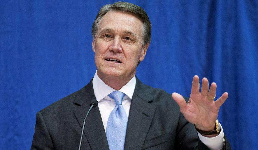 Republican David Perdue, candidate for U.S. Senate for Georgia (AP Photo/David Goldman, File)